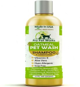 PRO PET WORKS ALL NATURAL OATMEAL DOG SHAMPOO AND CONDITIONER