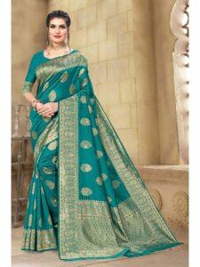 green-color-cotton-saree